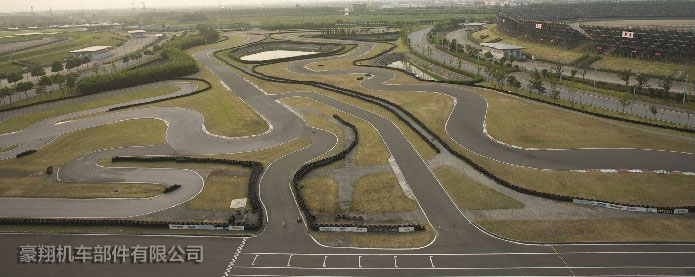 郊外卡丁车跑道平面图