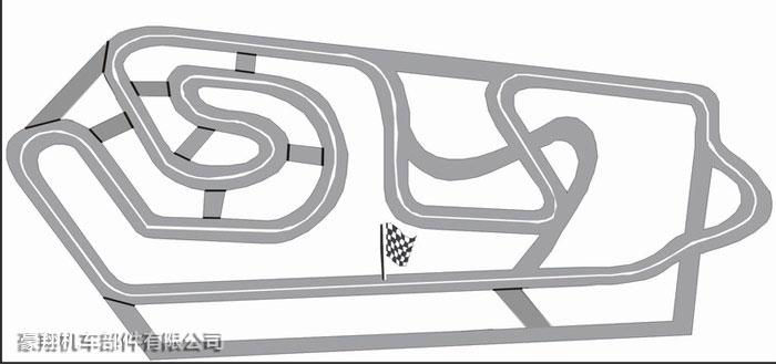 卡丁车标准跑道平面图a